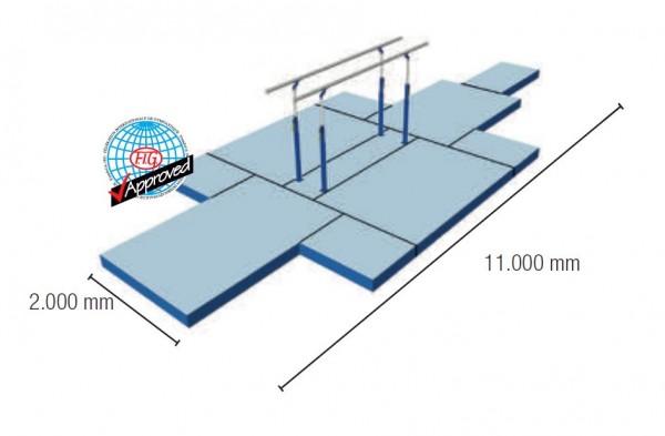 Männerbarren-Mattensatz 32,5 m² FIG-Zertifiziert