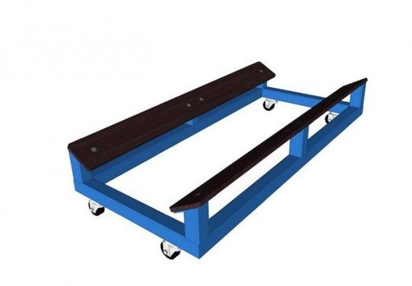 Muldenwagen für Rollmatte