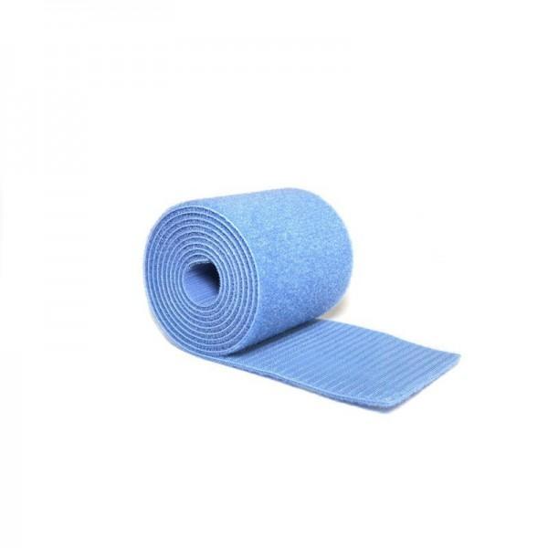 Klettband-Set - 6 x 14m für Bodenturnfläche 14x14m, hellblau