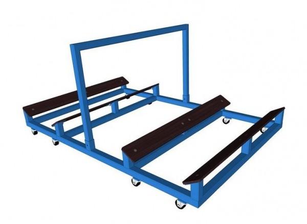 Muldenwagen Duo für bis zu 3 Rollmatten